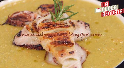 La Cuoca Bendata - Calamaro con vellutata di lenticchie ricetta Parodi