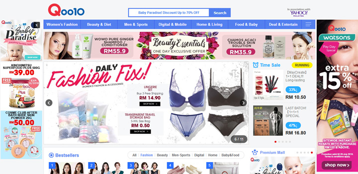Laman Web Shopping Online Popular di Malaysia