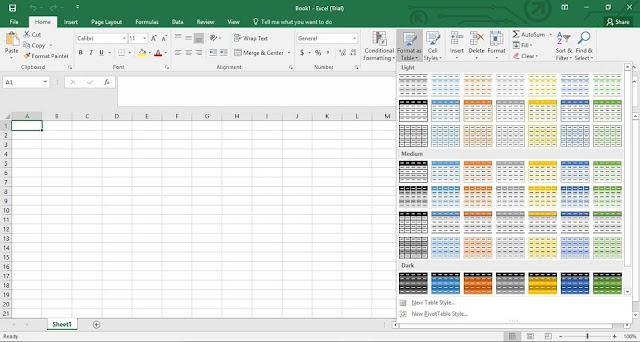 ms excel 2016 for windows