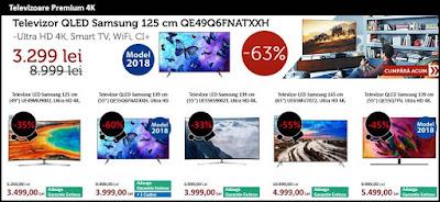 catalog black friday 2018 evomag televizoare 4k premium qled