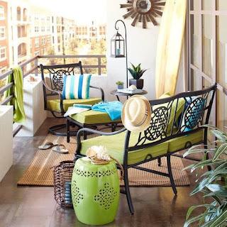 arredo balcone moderno etnico