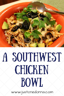 A Slow Cooker Southwest Chicken Bowl