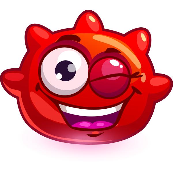 Red Spiky Emoji