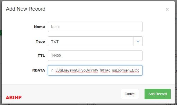 Cara Menambahkan TXT record di registrar.