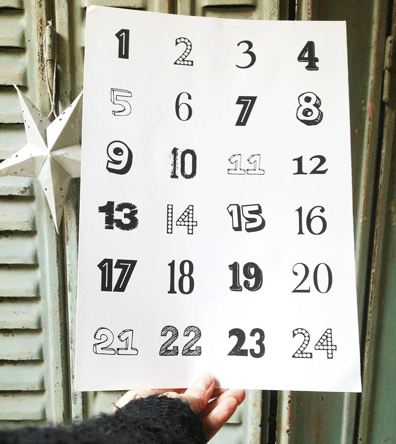 Calendrier De Lavent Une Grille De Numéro Pour Vous Simplifier La