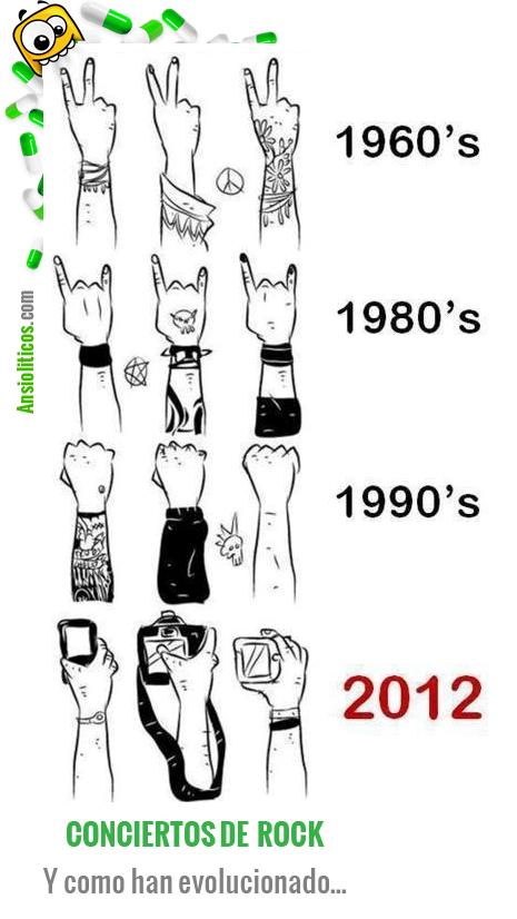 Chiste de la Evolución de los Conciertos de Rock