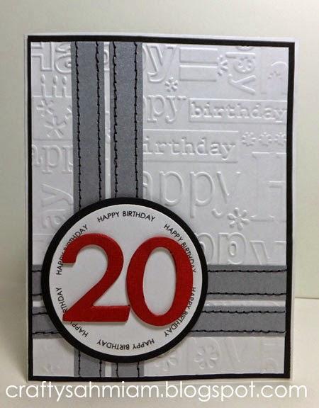 Crafty Sahm I Am 20th Birthday Card For A Young Man