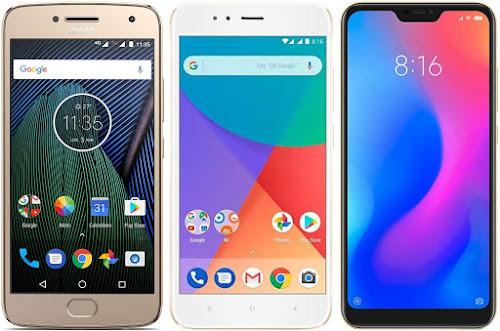 Motorola Moto G5 Plus vs Xiaomi Mi A1 32G vs Xiaomi Mi A2 Lite 32G
