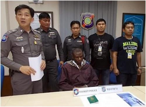 nigerian arrested thailand drug anus