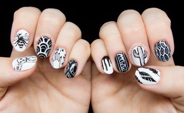 personalized black and white freehand