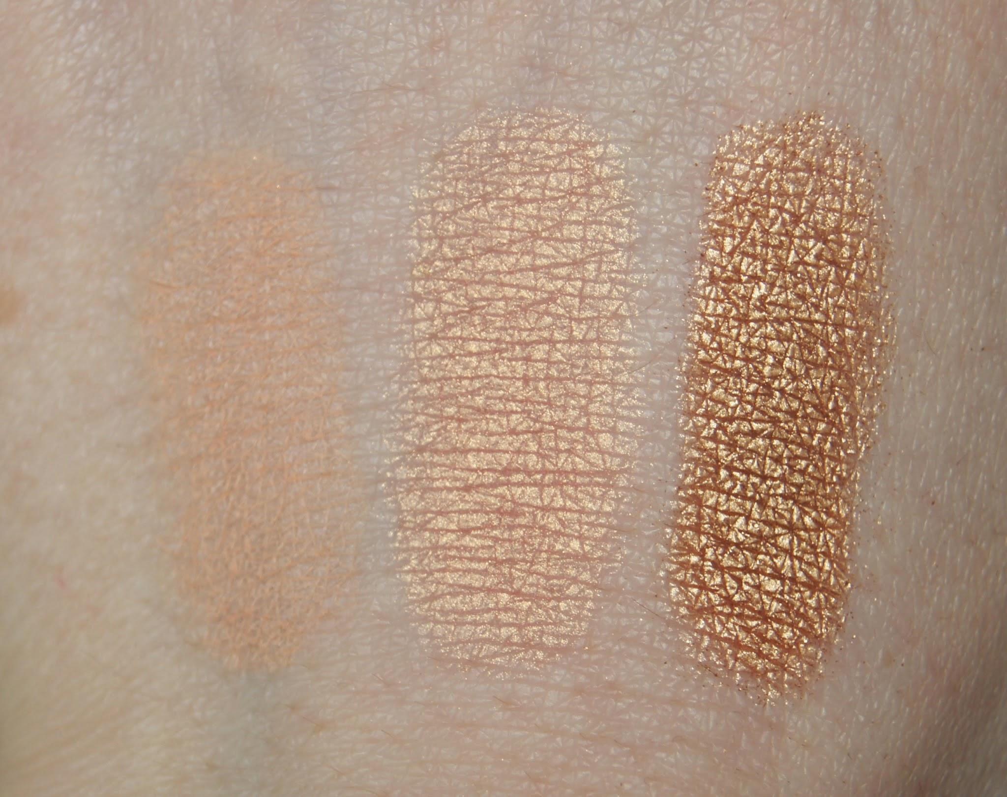 Smashbox Eyeshadow Swatches Bare, Peach & Gold