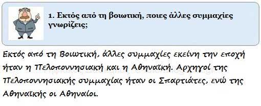 Η Θήβα και η βοιωτική συμμαχία - Κλασσικά χρόνια - από το «https://e-tutor.blogspot.gr»