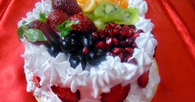 Fresh Fruit Cake Recipe..Birthday Cake Idea | Pepper