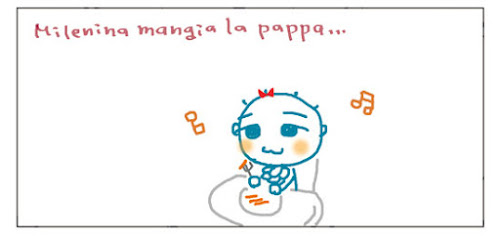 Milenina mangia la pappa...