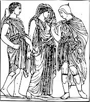 Hermès, Orphée et Eurydice