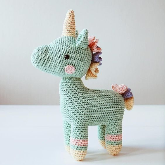 ▷ 9 Tutoriales de UNICORNIOS TEJIDOS a crochet | 9️⃣🦄 | 564x564