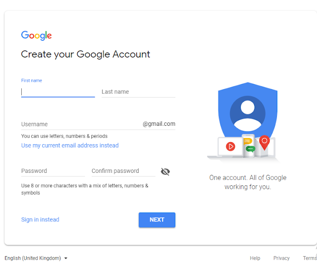 gmail account create in nepali