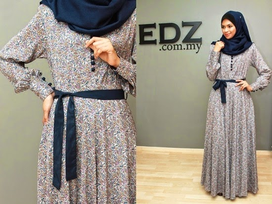 floral jubah dress