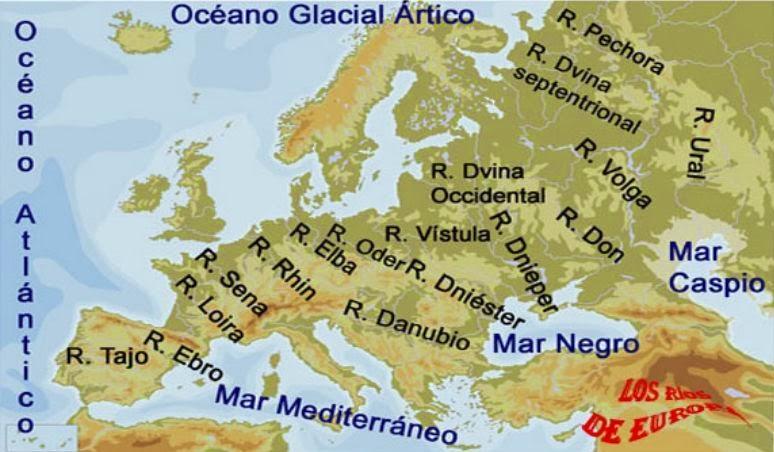 Mapa Interactivo Rios Europa.El Estublog De 6ºb Los Rios De Europa