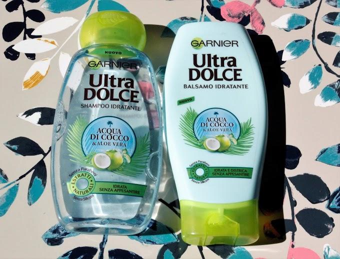 Ultra Dolce Garnier Acqua di Cocco & Aloe Vera (shampoo e balsamo) Pareri ed INCI