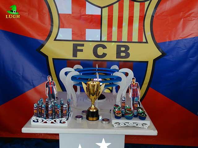 Decoração Barcelona para festa de aniversário infantil