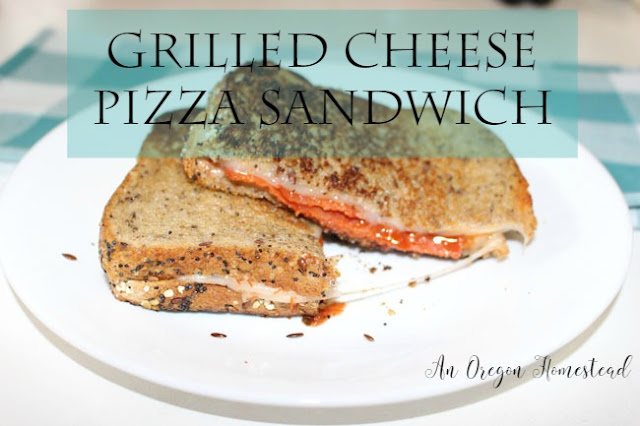 Grilled Cheese Pizza Sandwich. A quick and easy meal for those on the go.