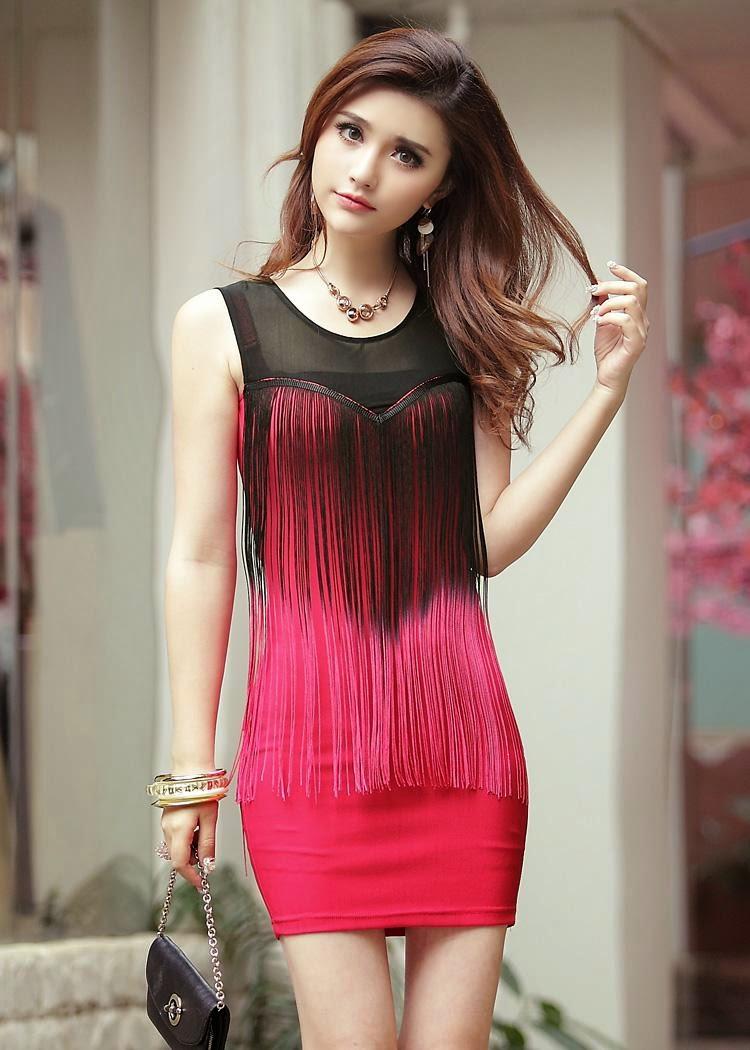 ideas con flecos en vestidos