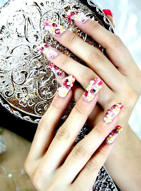 cute nail art creative design