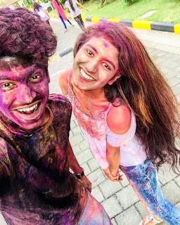 Priya Prakash and Roshan play Holi Video Viral