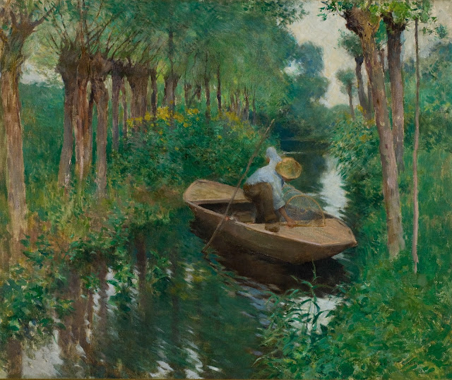 The Eel Trap by Willard Metcalf