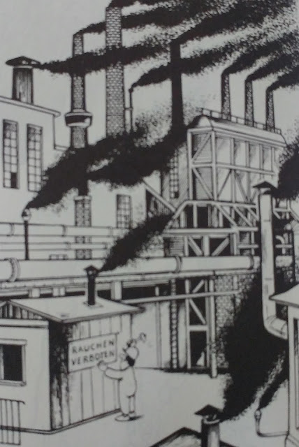 Karikatur Umweltverschmutzung