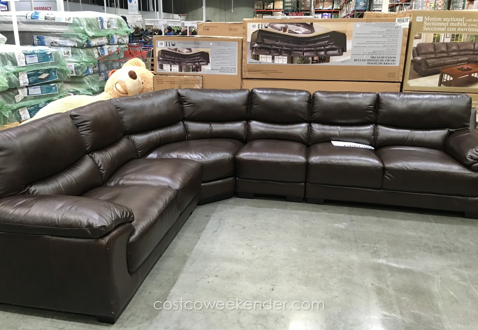 Costco Fabric Reclining Sofa Cooper Leather Marks And Cohen Colton Sectional Weekender