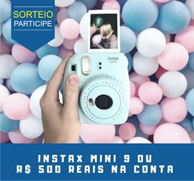 Sorteio - Câmera instax mini 9 ou R$ 500 reais na conta