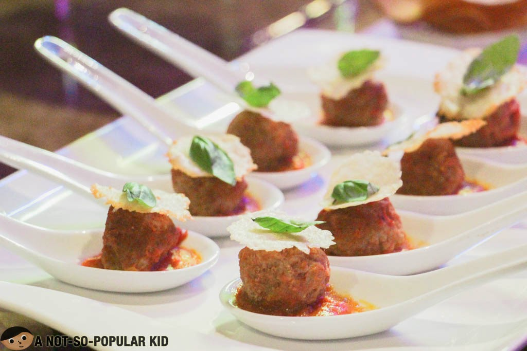 Meatballs Lucia with Crunchy Italian Cheese