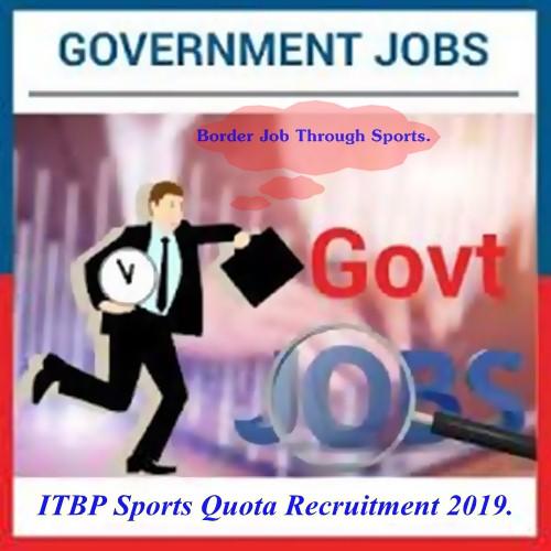 ITBP Recruitment 2019.