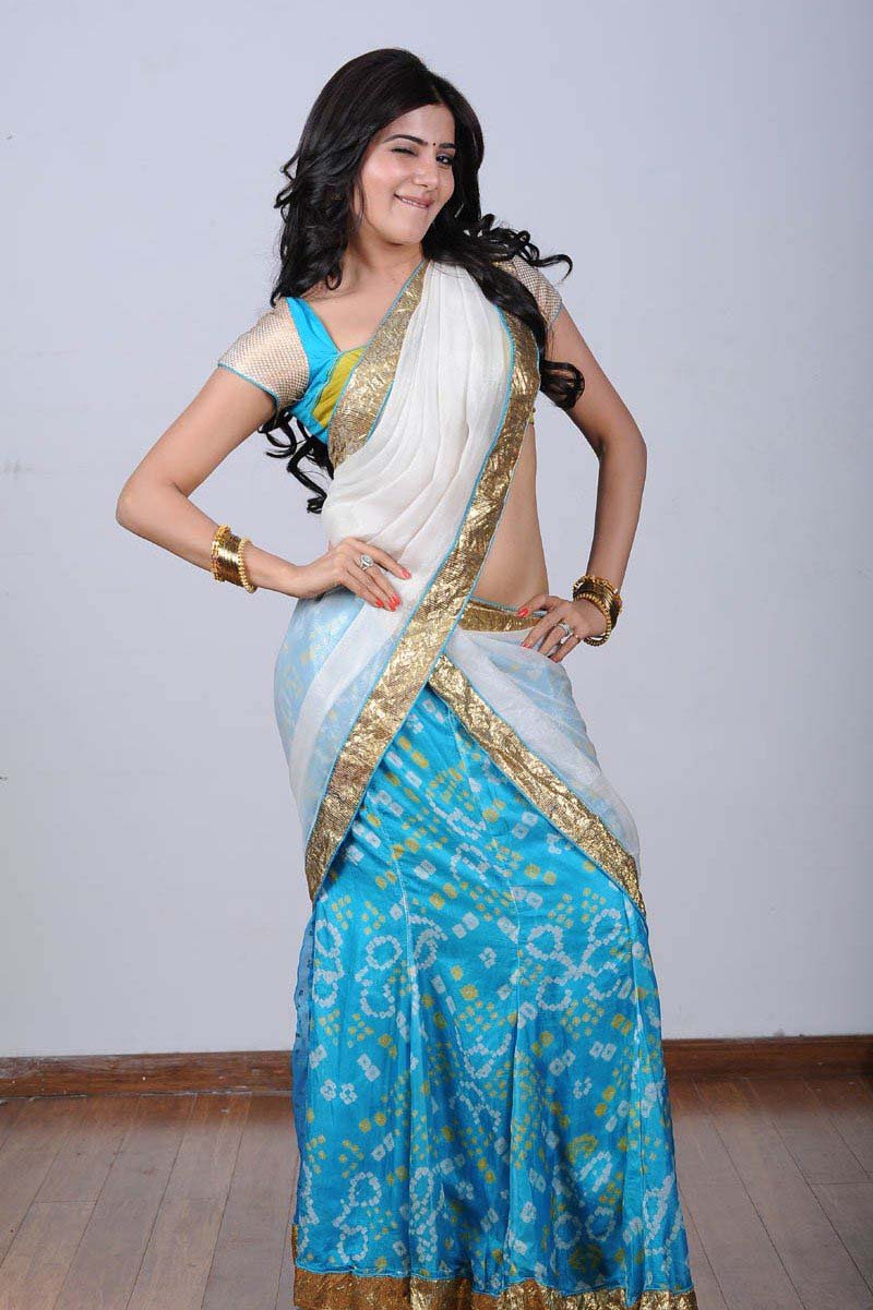 Samantha Ruth Prabhu Photoshoot in Half Saree