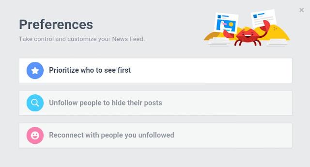 News Feed Preferences Settings