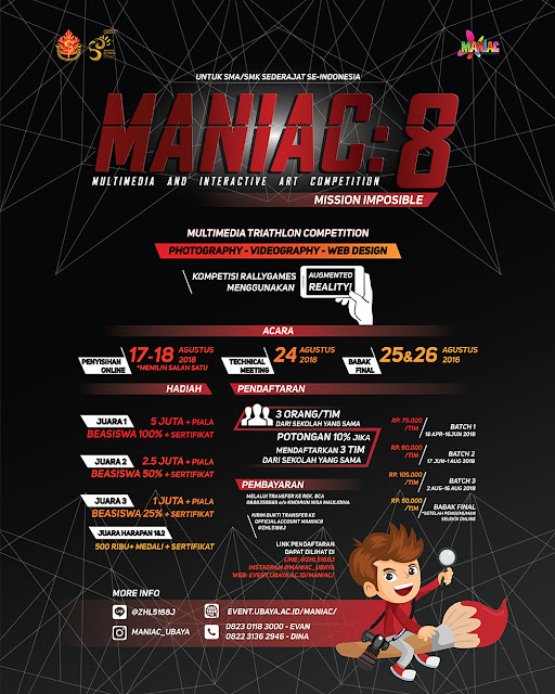 Lomba Multimedia And Interactive Art Competition (MANIAC 8) Ubaya 2018