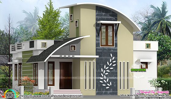 Contemporary style small house plan