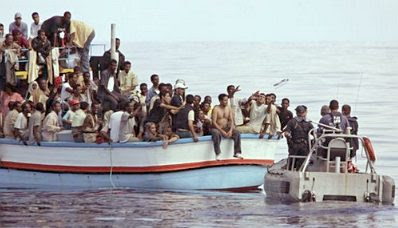 Malta: boatload of refugees #1