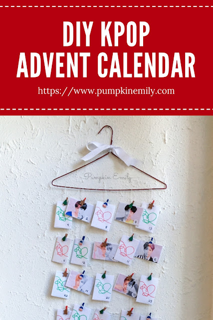 DIY Kpop Christmas Advent Calendar