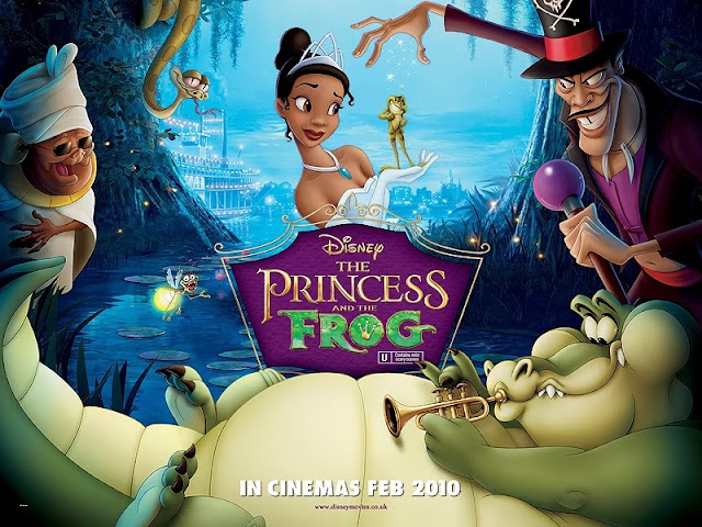 The Princess and the Frog UK poster animatedfilmreviews.filminspector.com