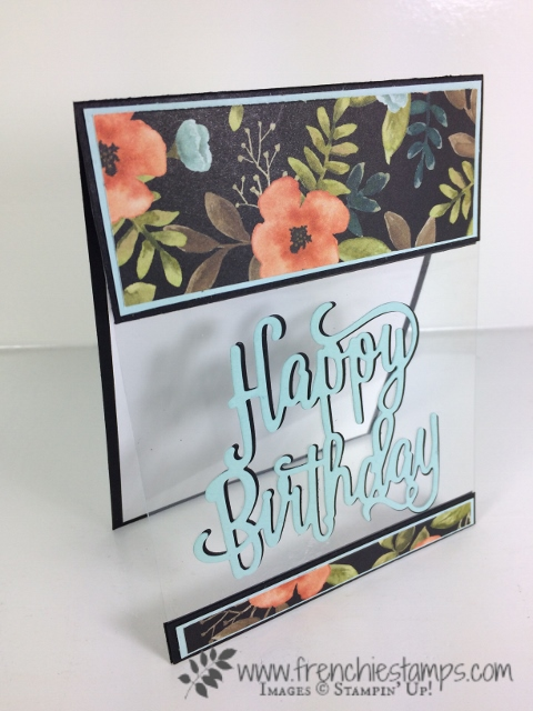 Happy Birthday thinlits, Window Sheet card, Open Panel Card, Frenchie Stamps, Stampin'Up!