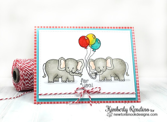elephant | birthday card | handmade card | newton's nook designs | kimpletekreativity.blogspot.com | bakers twine | balloons