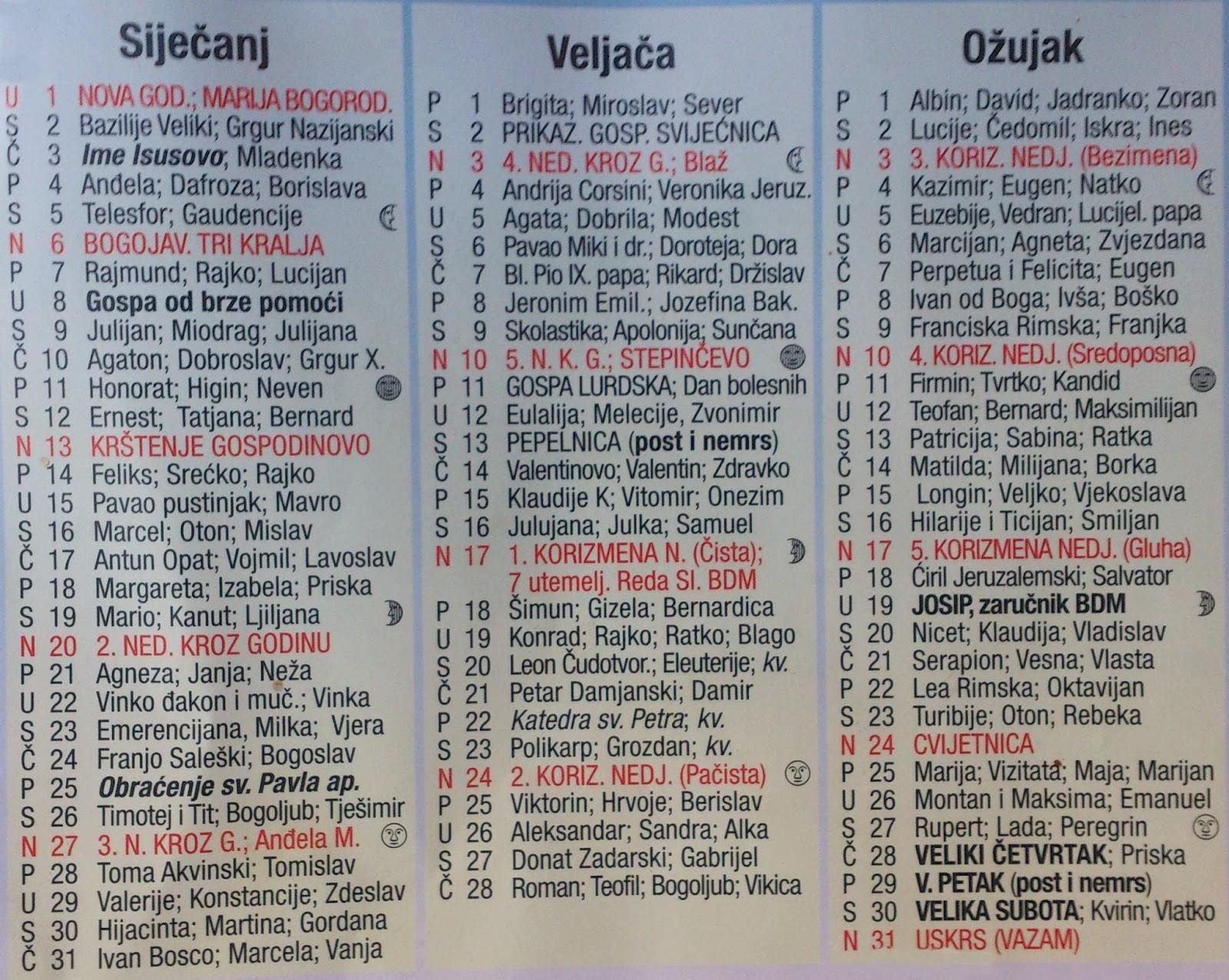 of Hrvatski Katolicki Kalendar 2015 ~ Feb 2016 watch movies online