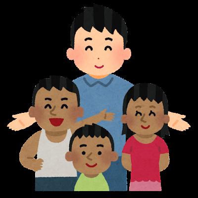 海外の子供のために働く人のイラスト(男性)