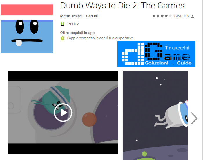 Trucchi Dumb Ways to Die 2: The Games Mod Apk Android v1.7.2