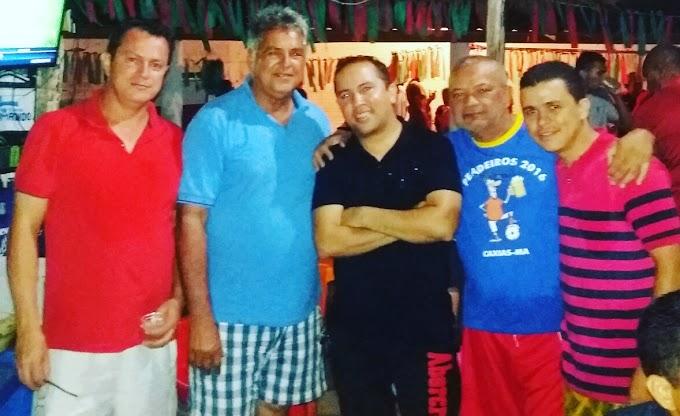 ALDEIAS ALTAS: Prefeito Zé Reis prestigiou amistoso de futebol entre Caxias x Aldeias Altas no aniversário da cidade.
