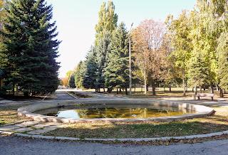 Межова. Центральний парк. Колишній фонтан