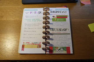 Now I often use several days on a page unless I'm VERY busy.